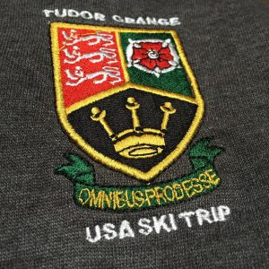 #schooltrip #embroidery #skitrip #clothing #screenprinting @tudorgrangeacademy